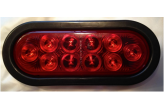 Red LED Brake Light , Rubber Gasket & Wire Pigtail